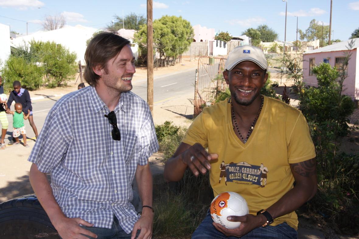 Mit Collin Benjamin in Windhoek, Namibia 2010